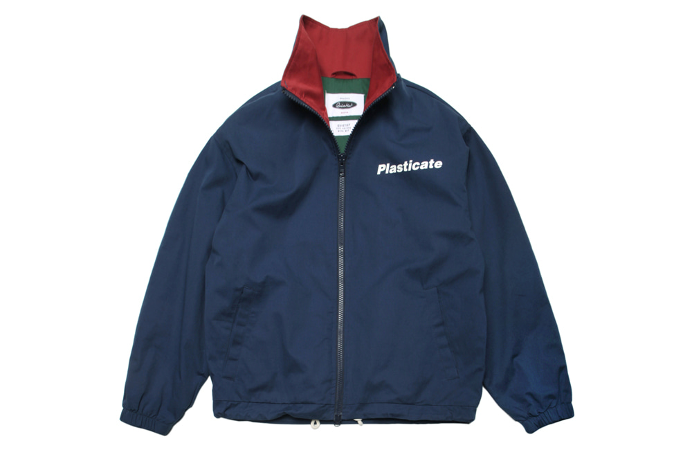 PLASTICATE Basic Coach Jacket (blue)
