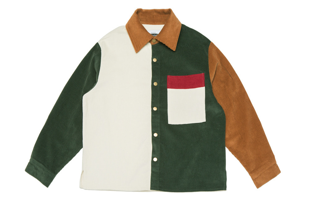 8's Corduroy Mix Shirts-Jacket (ivory)