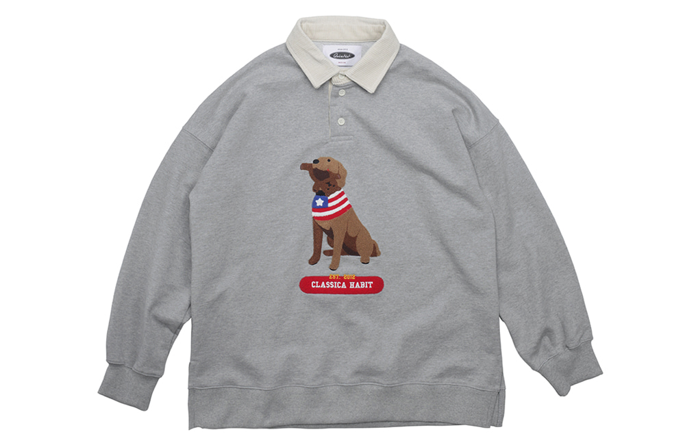 Retriever Bite Rugby Sweat (gray)