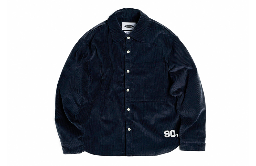 8's Corduroy 1990 Shirts-Jacket (navy)