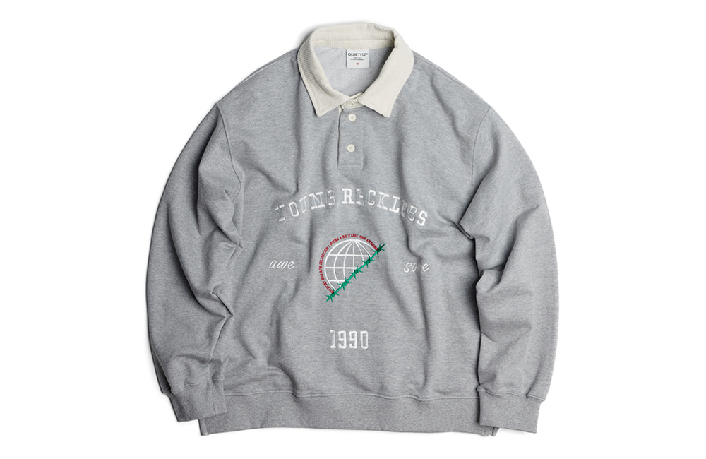 Globe Rugby-Collar Sweat (gray)