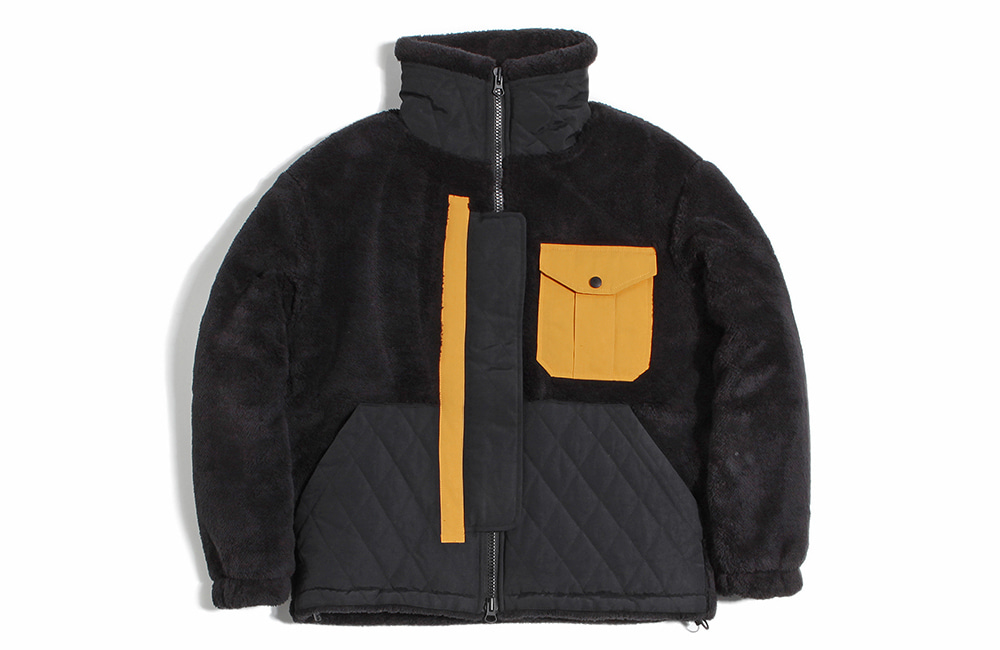 NEO Quilted Heavy Fleece Zip-up (black)