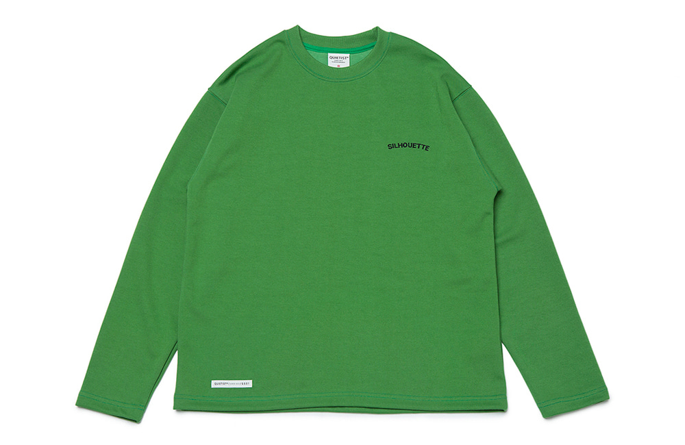 Silhouette Plain Crew-neck (green)