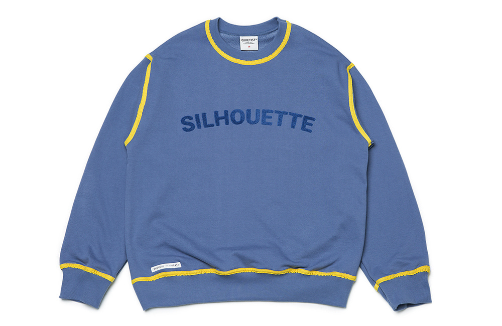 Silhouette Piping Sweat (teal)