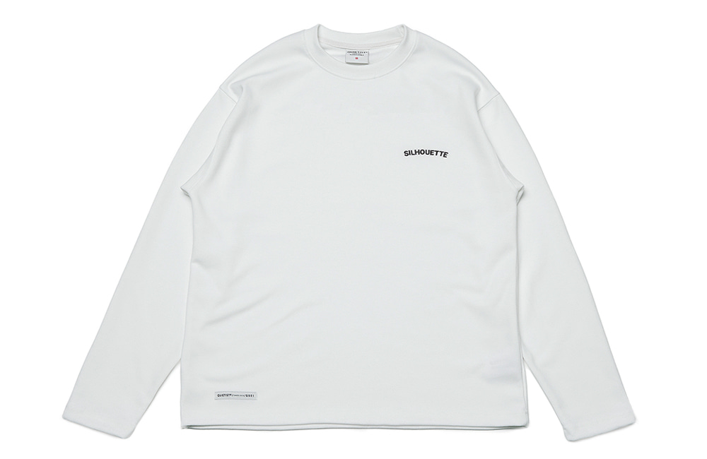 Silhouette Plain Crew-neck (white)