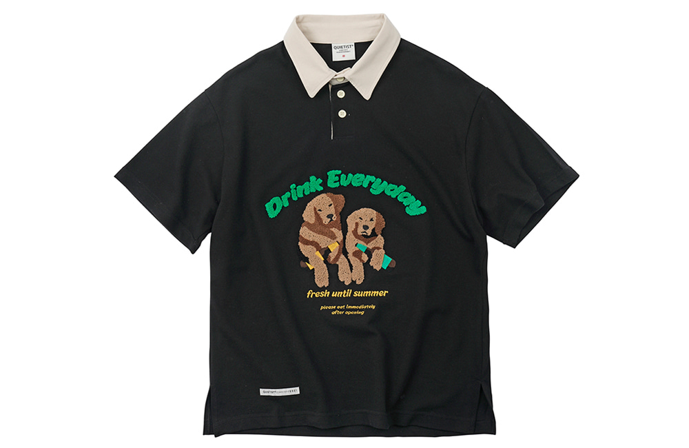 20's Retriever Rugby Collar-Tee (black)