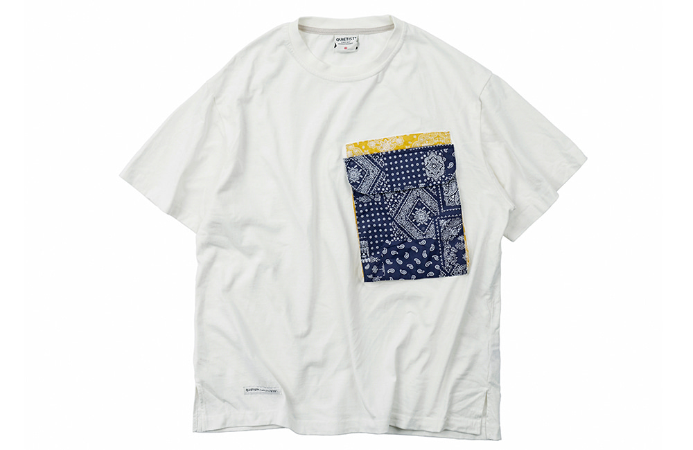 Paisley Pocket T-Shirts (white)