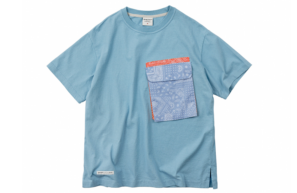Paisley Pocket T-Shirts (sky)