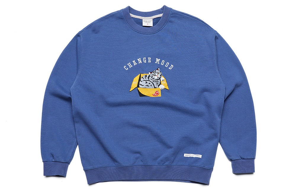 Change-mood Cat box Sweat (teal)