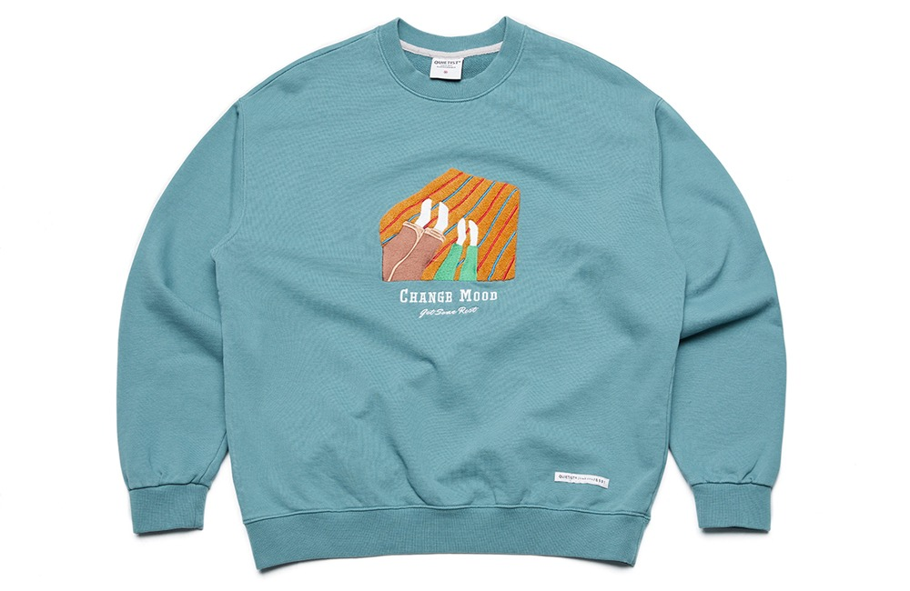Change-mood Blanket Sweat (l.teal)