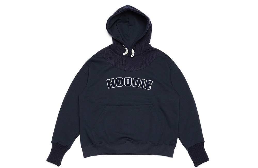 Plain Knit Hood (navy)