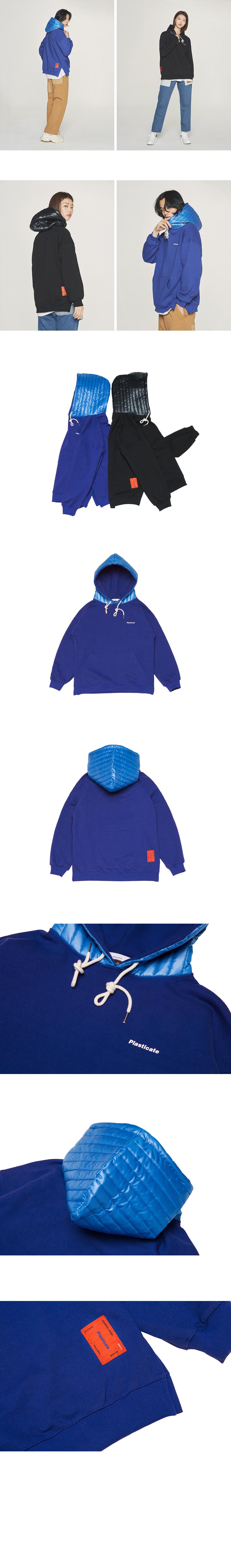 콰이어티스트 Padding Shell Sweat-Hood (blue)