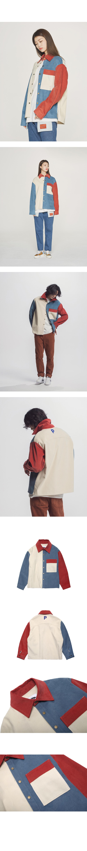 콰이어티스트 11's Corduroy Mix Shirts-Jacket (ivory)