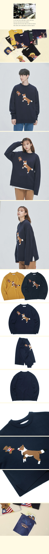 콰이어티스트(QUIETIST) 컬리지 베어 로고 스웨터 (black)
