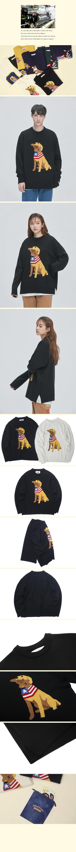 콰이어티스트(QUIETIST) 리트리버 바이트 스웨터 (black)