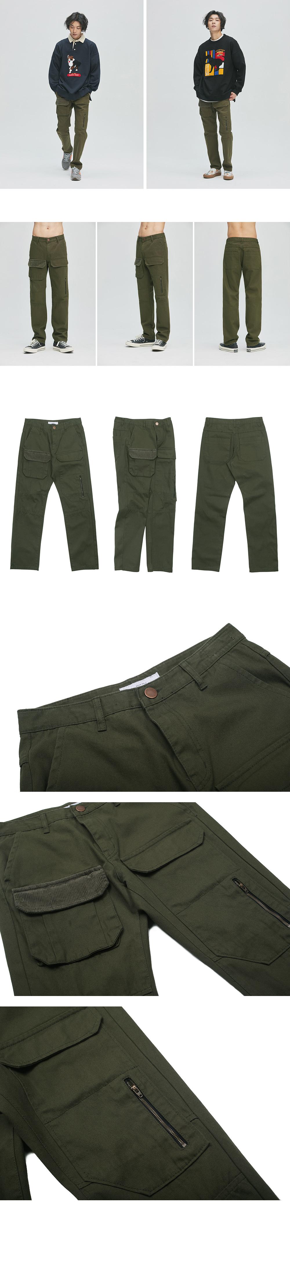 콰이어티스트 Double Pocket Fatigue Pants (khaki)