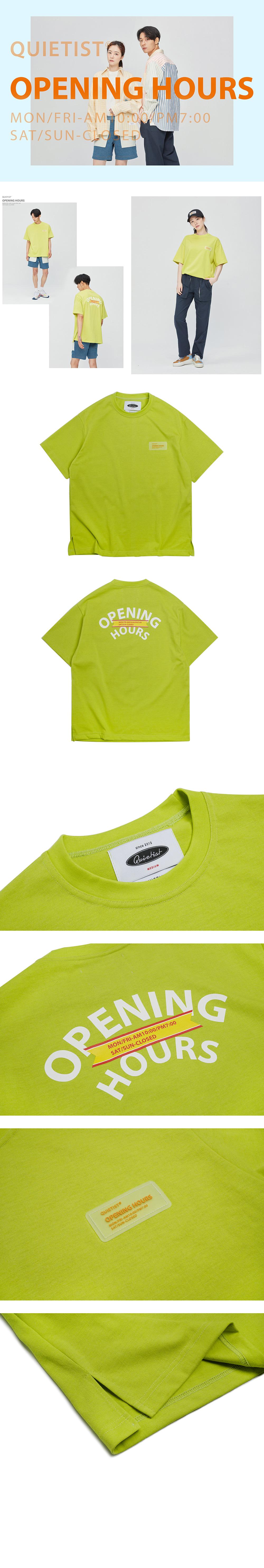 콰이어티스트 Opening Wappen OG T-shirts (neon)