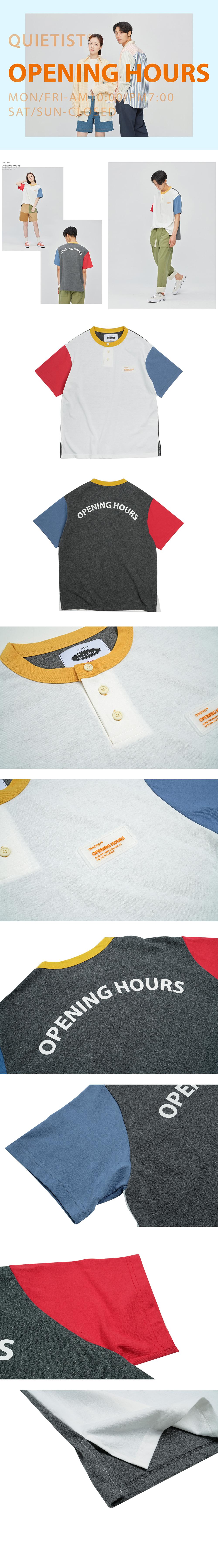 콰이어티스트 Opening Mix Henley-neck T-shirts (mix)