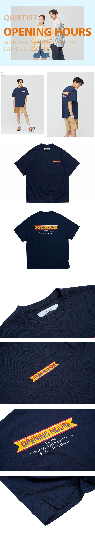 콰이어티스트 Opening Hours OG T-shirts (navy)